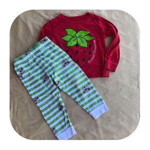 Strawberry Shortcake PJ Set Girls 2T